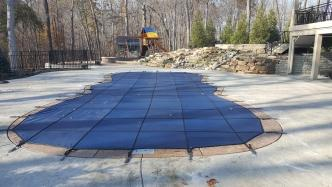 customer shaped pool winter cover