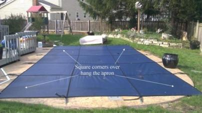 stock rectangle pool winter cover