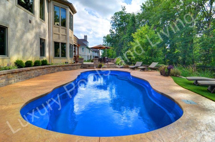 Blacklick riviera fiberglass pool luxury pools and living - Riviera fiberglass pools ...