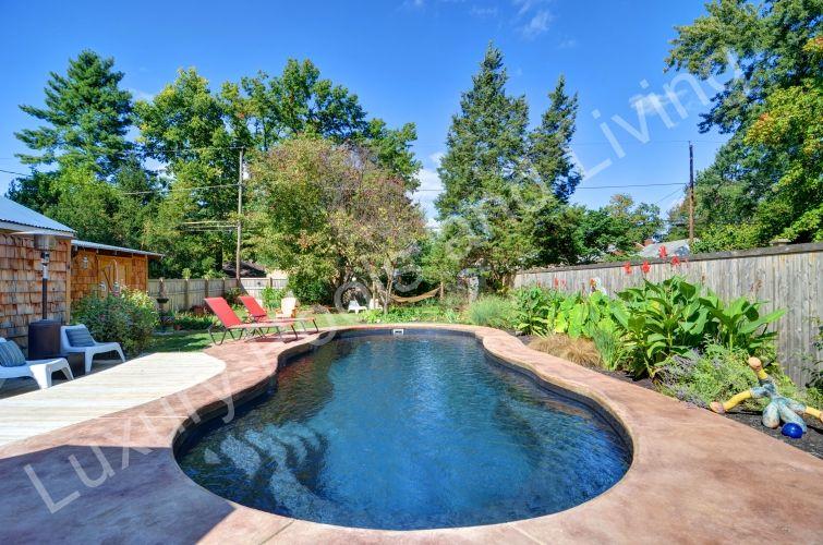 Columbus riviera fiberglass pool luxury pools and living - Riviera fiberglass pools ...
