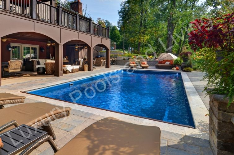Lancaster Palm Beach Autocover Fiberglass Pool Luxury